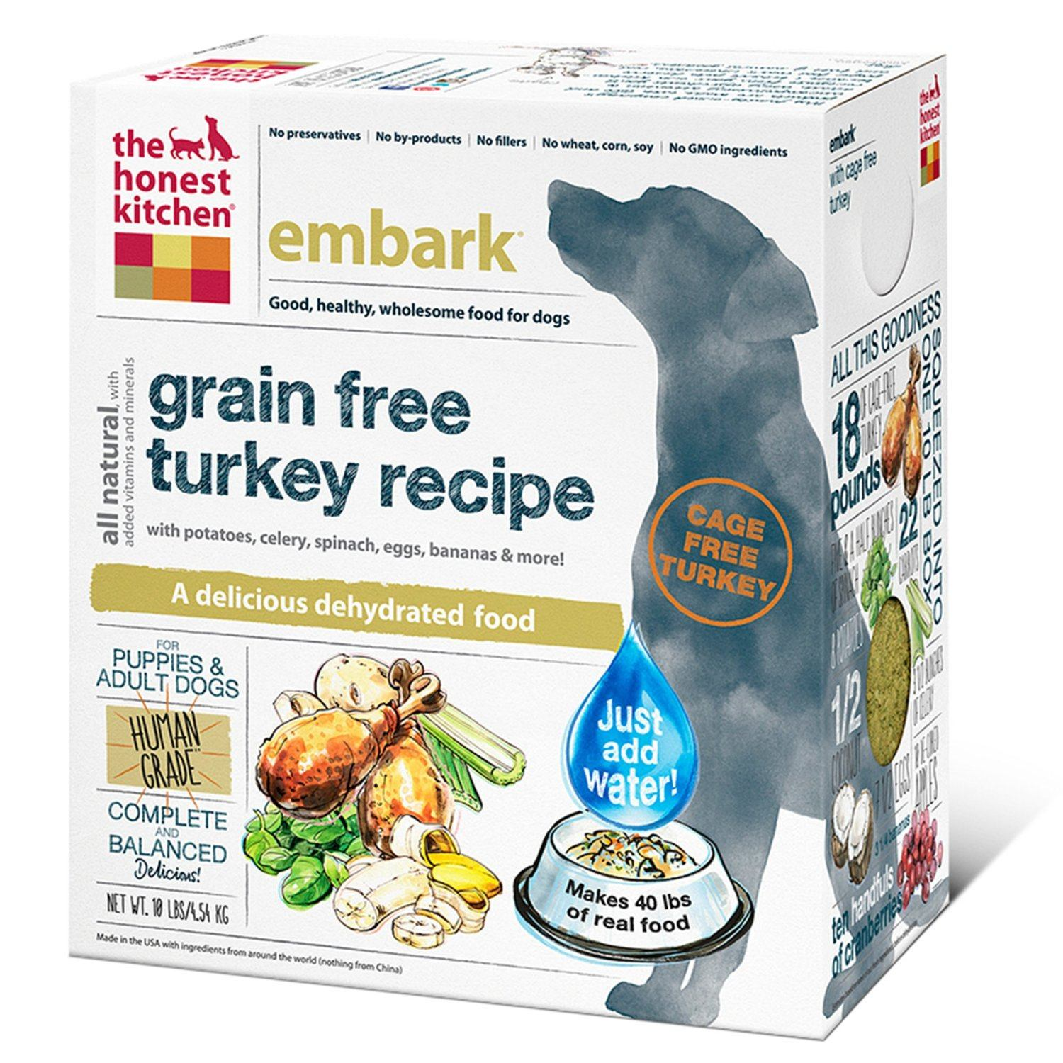 Embark Grain Free Turkey Dog Food formula