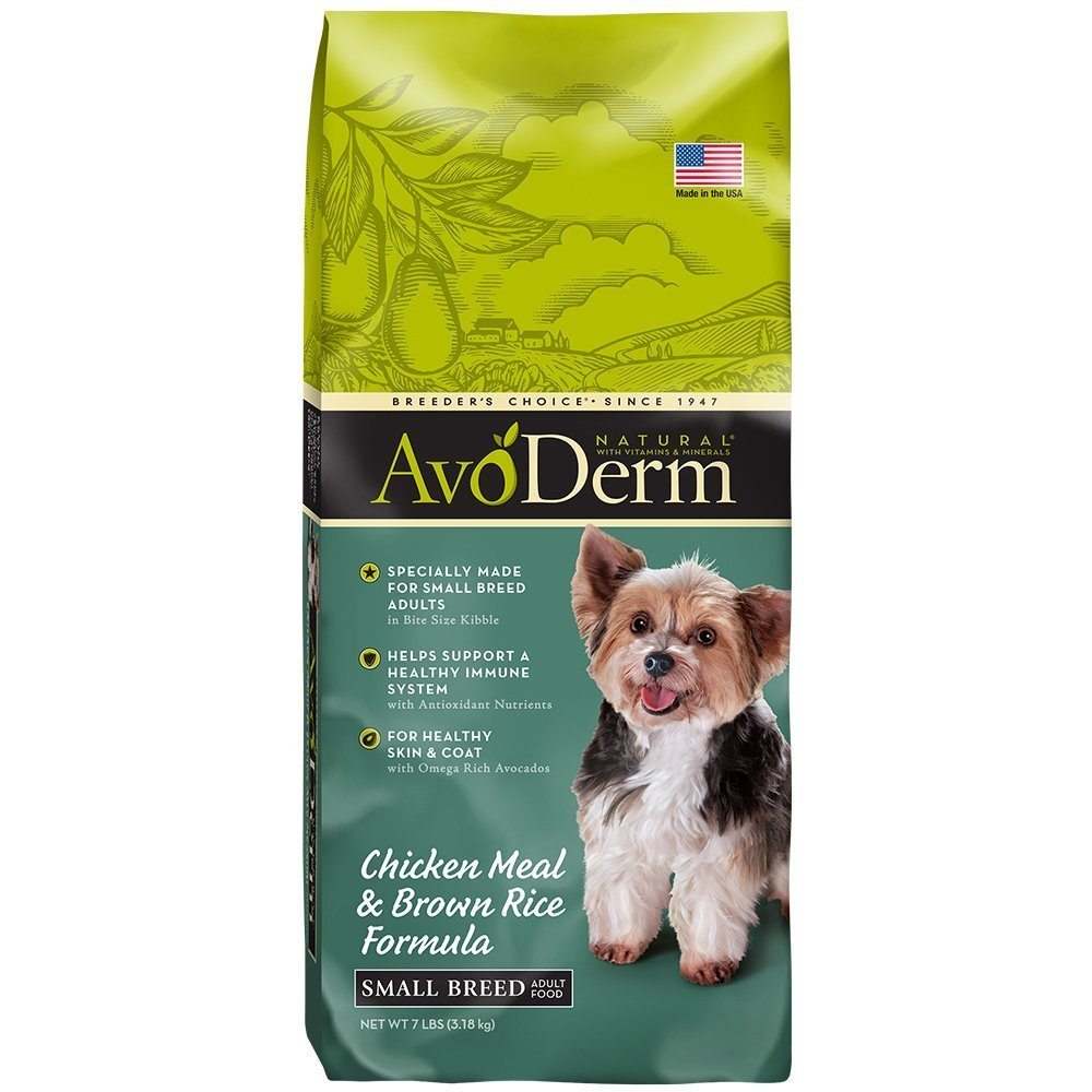 Recommended AvoDerm Small Breed Adult Dog Food