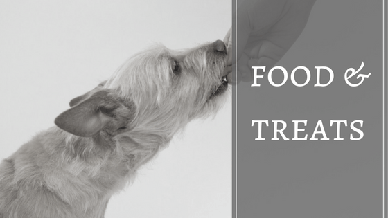 Articles on pet food and dog treats