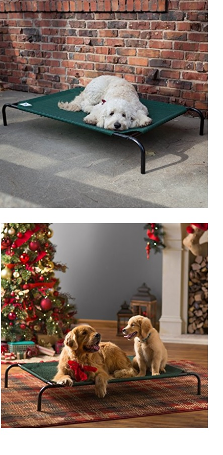 Indoor and outdoor elevated dog bed