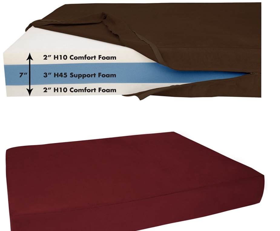 Chocolate Color Orthopedic Large Dog Bed
