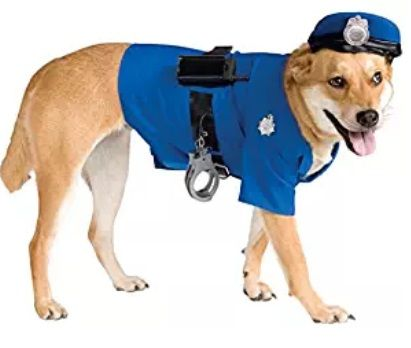 Cop Halloween Dog Costume