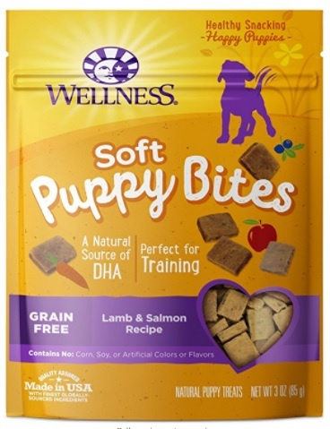 Soft, chewy, perfectly-sized treats specially for puppies made with premium lamb and salmon