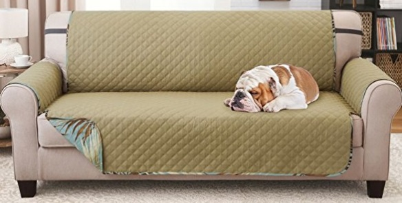 Luxurious Reversible Quilted SOFA Protector that Keeps furniture safe from pets, stains, and spills