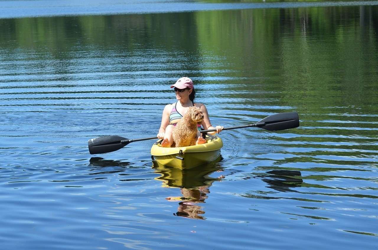 Go slow during your first kayak trip with your dog