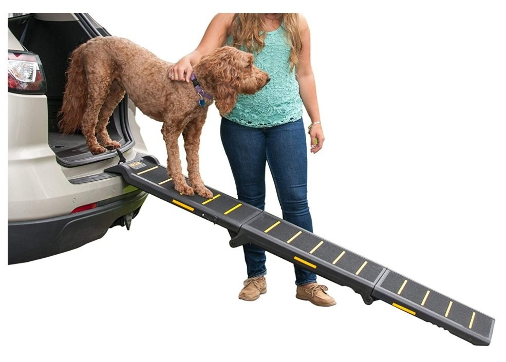Easy to install and non-slip surface dog ramp.