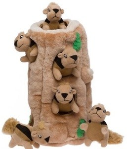 Hide A Squirrel Puzzle Dog Toy