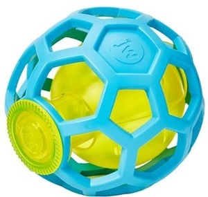 Bouncy, fun fetch ball for dispensing treats.