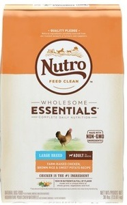 Nutro Wholesome Essentials Large Breed Adult Farm Raised Chicken, Brown Rice & Sweet Potato Recipe Dry Dog Food