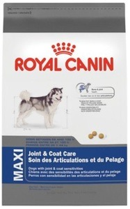 Royal Canin Maxi Joint & Coat Care is designed for adult and mature large breed dogs