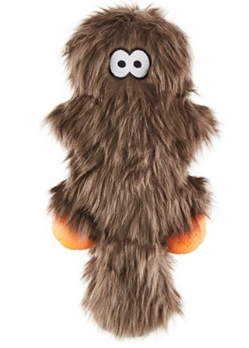 Hairy Critter Plush Dog Toy