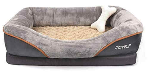 a supportive memory foam dog bed for senior small pets