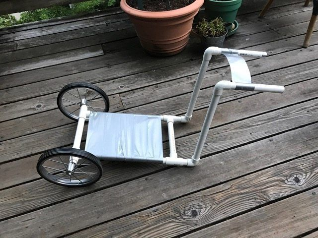 Low cost DIY pet wheelchair