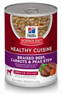 Hill's Science Diet Adult Healthy Cuisine Braised Beef, Carrots & Peas Stew Canned Dog Food
