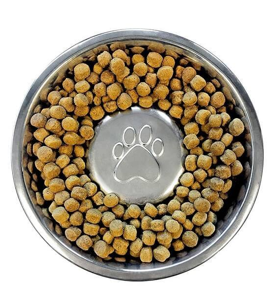 Slow feeder to prevent fast eating by dogs