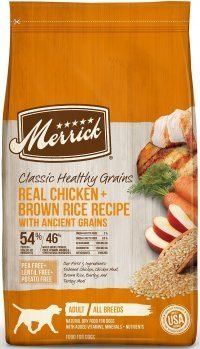 A healthy grain inclusive dog food brand from Merrick