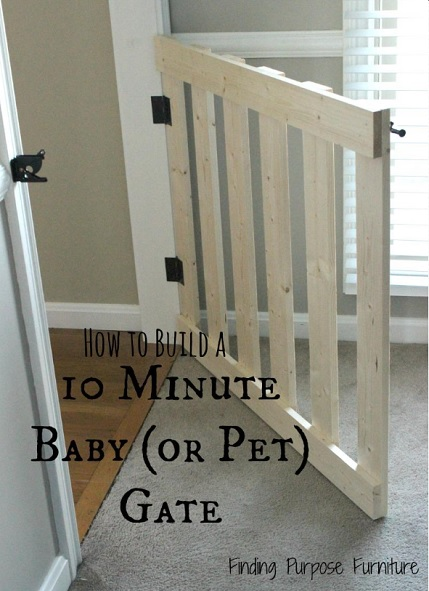 A stylish white baby or pet gate