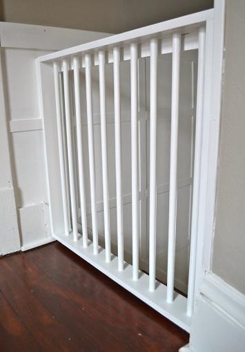 A White stylish DIY pet gate/baby gate