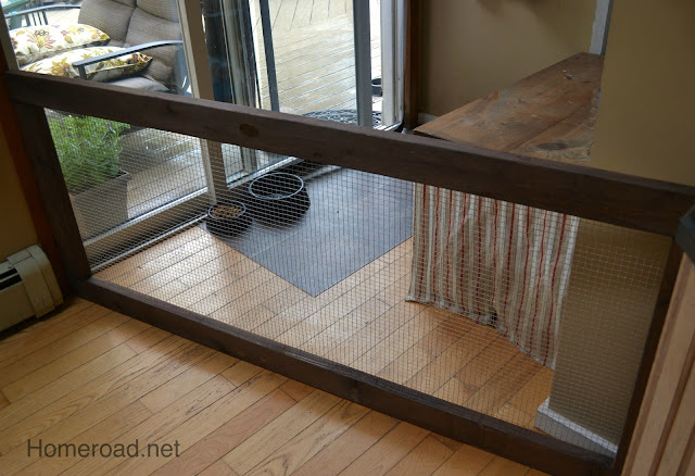 A stylish indoor diy dog fence