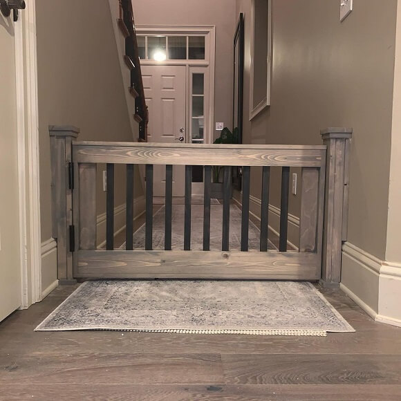 A modern and stylish diy indoor pet gate