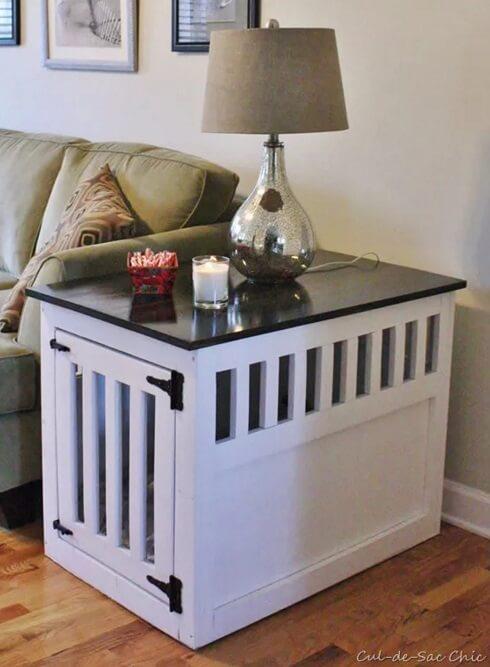 Diy indoor wooden dog kennel