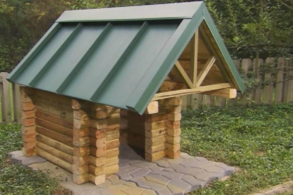 Log cabin dog house plans